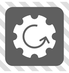 Gear Rotation Rounded Square Button vector image