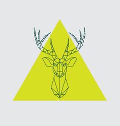 geometrical head reindeer vector image