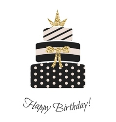 Glam birthday cake for girls vector image