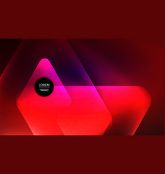 Glowing neon shiny transparent abstract geometric vector