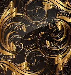 Gold Seamless Floral Background vector