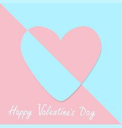 happy valentines day sign symbol pink paper heart vector image