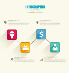 infographic business web template vector image