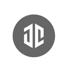 initial letter jc logo modern and minimalist icon vector image