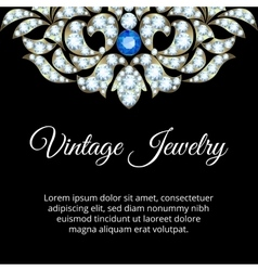 Jewelry vintage card vector