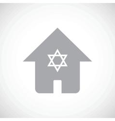 Jewish house icon vector