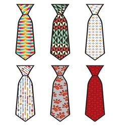 Kolekcija kravate vector