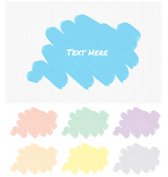 Label template with different color brushstrokes vector