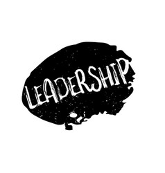 Leadership rubber stamp vector