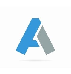 Letter A logo or icon vector image