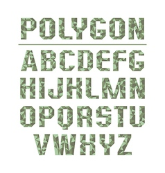 Low polygon sans serif font vector