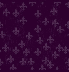 Mardi gras dark seamless background fleur de lis vector