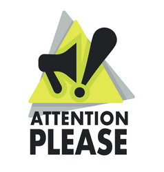 megaphone and exclamation mark attention please vector image