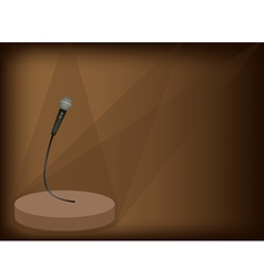 Modern Microphone Background vector