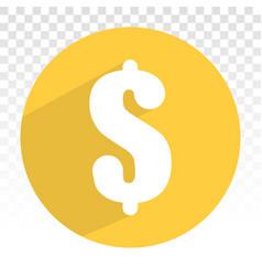 Money dollar sign or symbol on a transparent vector
