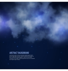 Night sky with stars and clouds abstract vector