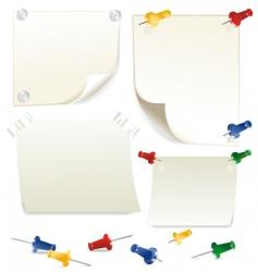 Paper pushpin vector