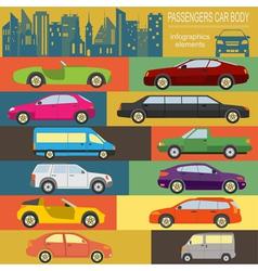 Passenger car transportation infographics vector image