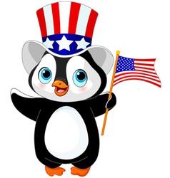 Patriotic penguin vector