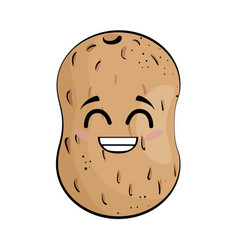 potato funny cartoon vector image