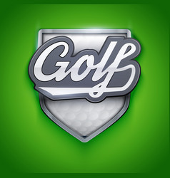 Premium symbols of golf emblem vector
