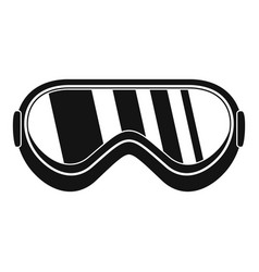 protect goggles icon simple style vector image