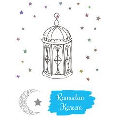 Ramadan kareem concept hand drawing image vector