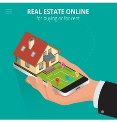 Real estate Online for buying or for rent Man vector