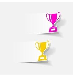 realistic design element winner vector image