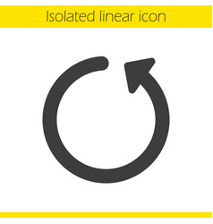 Reload linear icon vector