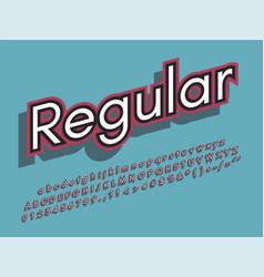 retro font and alphabet stock vector image
