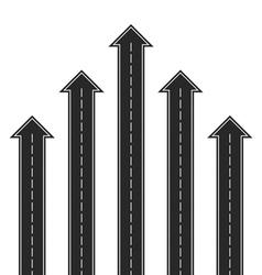 Road arrows vector