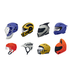 safety helmet race driver and sport head vector image