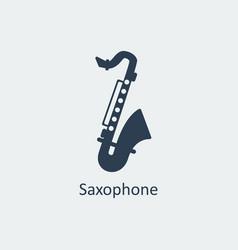 Saxophone icon silhouette icon vector