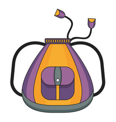school violet bag color icon vector image