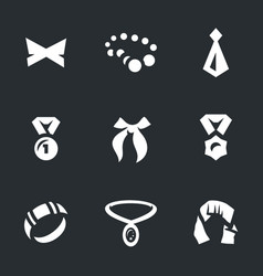 Set of clothing and bijouterie icons vector