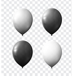 Set realistic color air balloons isolated with vector image
