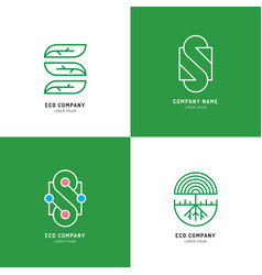 set s logo design vector image