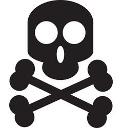 skull design head death horror tattoo vector image
