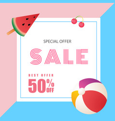 special offer sale best offer 50 off watermelon b vector image
