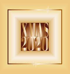 Square poster merry christmas 2020 gradient vector