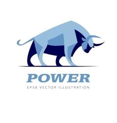 standing bull vector image