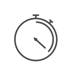 stopwatch icon line time symbol vector image