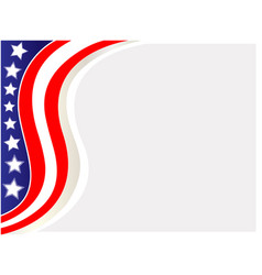 stylized usa flag frame vector image
