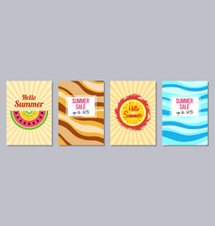 summer theme templates a6 size vector image