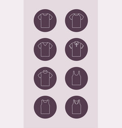T-shirt outline icon vector