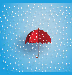 umbrella in the air with raining vector image