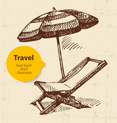 Vintage travel background vector