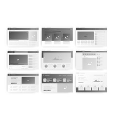 web page layout website wireframe windows vector image