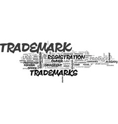 What are trademarks text word cloud concept vector